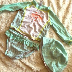 Baby 3 piece swimsuit